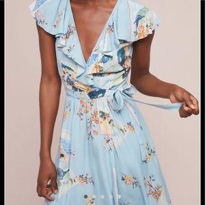 Anthropologie Rosalia wrap dress